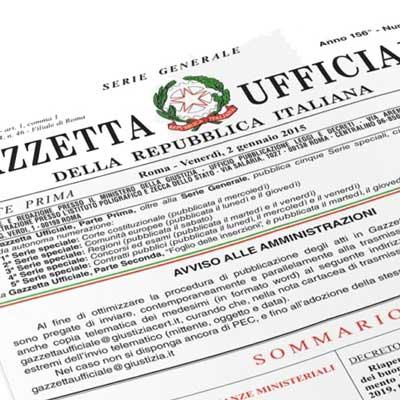 Dpcm Gazzetta Ufficiale